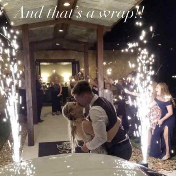 cold spark fountain for wedding